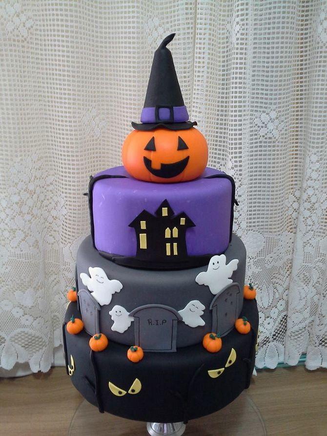 Торт на Хэллоуин: варианты украшения «ужасного» десерта 48
