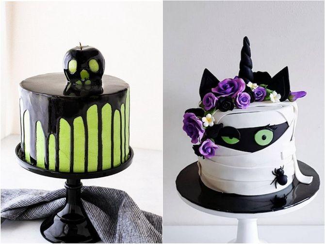 Торт на Хэллоуин: варианты украшения «ужасного» десерта 5