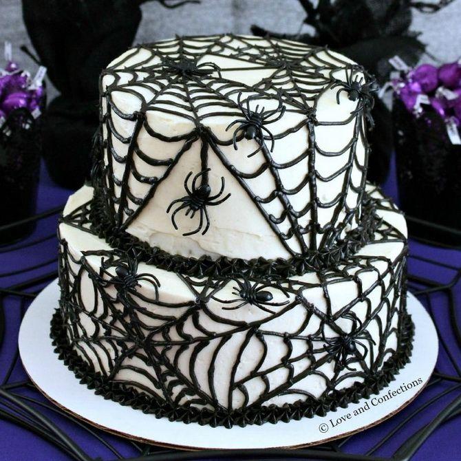 Торт на Хэллоуин: варианты украшения «ужасного» десерта 50