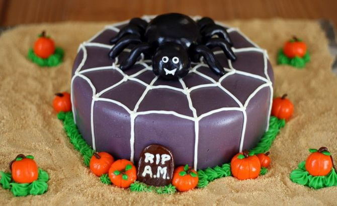 Торт на Хэллоуин: варианты украшения «ужасного» десерта 51