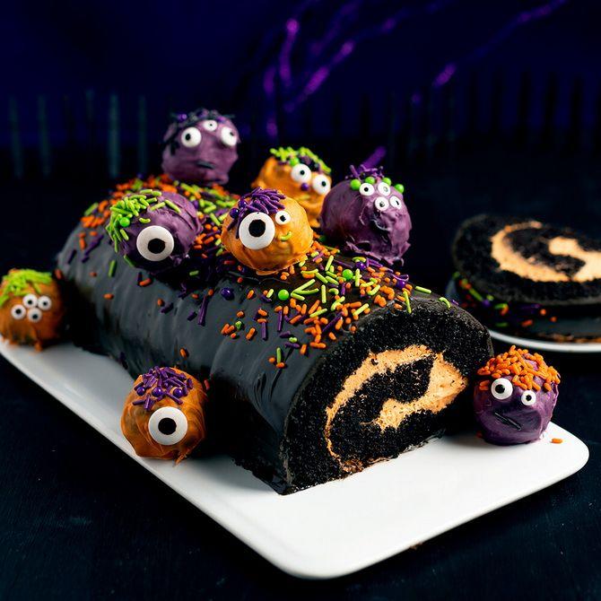 Торт на Хэллоуин: варианты украшения «ужасного» десерта 54