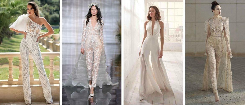 Свадебные комбинезоны — лучшие идеи для смелых невест