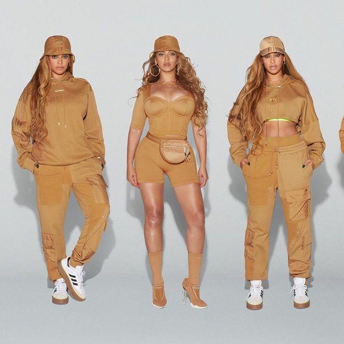 Бейонсе показала своє шикарне тіло, демонструючи медові і зелені речі з колекції Adidas x Ivy Park 2