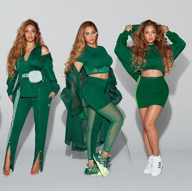 Бейонсе показала своє шикарне тіло, демонструючи медові і зелені речі з колекції Adidas x Ivy Park 4