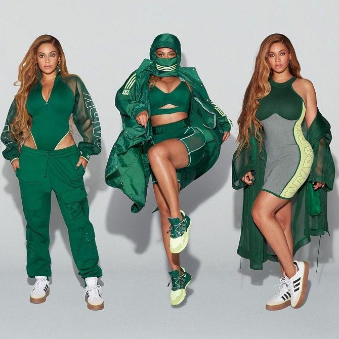 Бейонсе показала своє шикарне тіло, демонструючи медові і зелені речі з колекції Adidas x Ivy Park 5