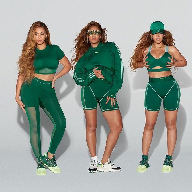 Бейонсе показала своє шикарне тіло, демонструючи медові і зелені речі з колекції Adidas x Ivy Park 6