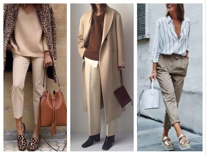 Бежеві штани для жінок – з чим поєднувати 1