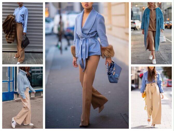 Бежеві штани для жінок – з чим поєднувати 10