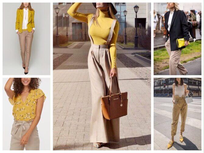 Бежеві штани для жінок – з чим поєднувати 11