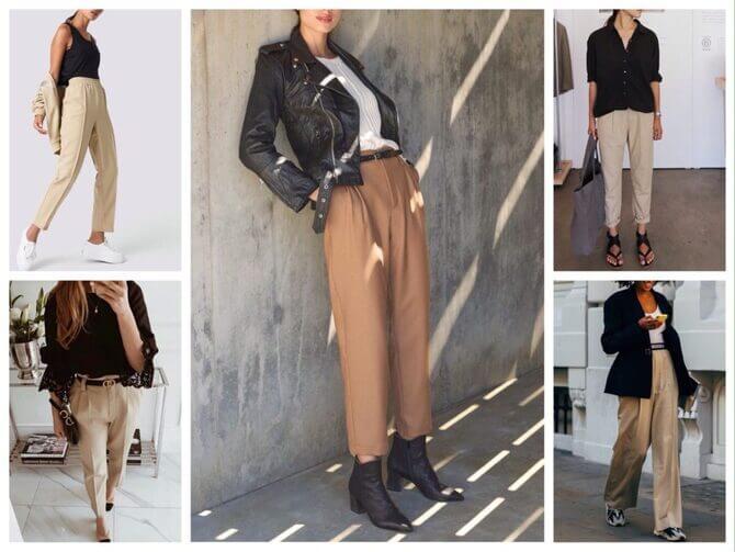 Бежеві штани для жінок – з чим поєднувати 14