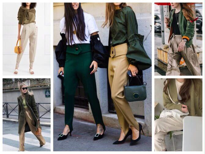 Бежеві штани для жінок – з чим поєднувати 15