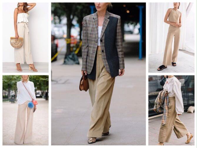Бежеві штани для жінок – з чим поєднувати 16