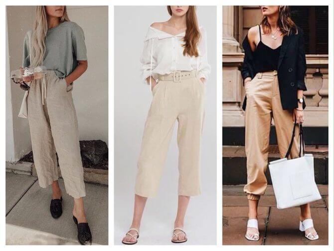 Бежеві штани для жінок – з чим поєднувати 18
