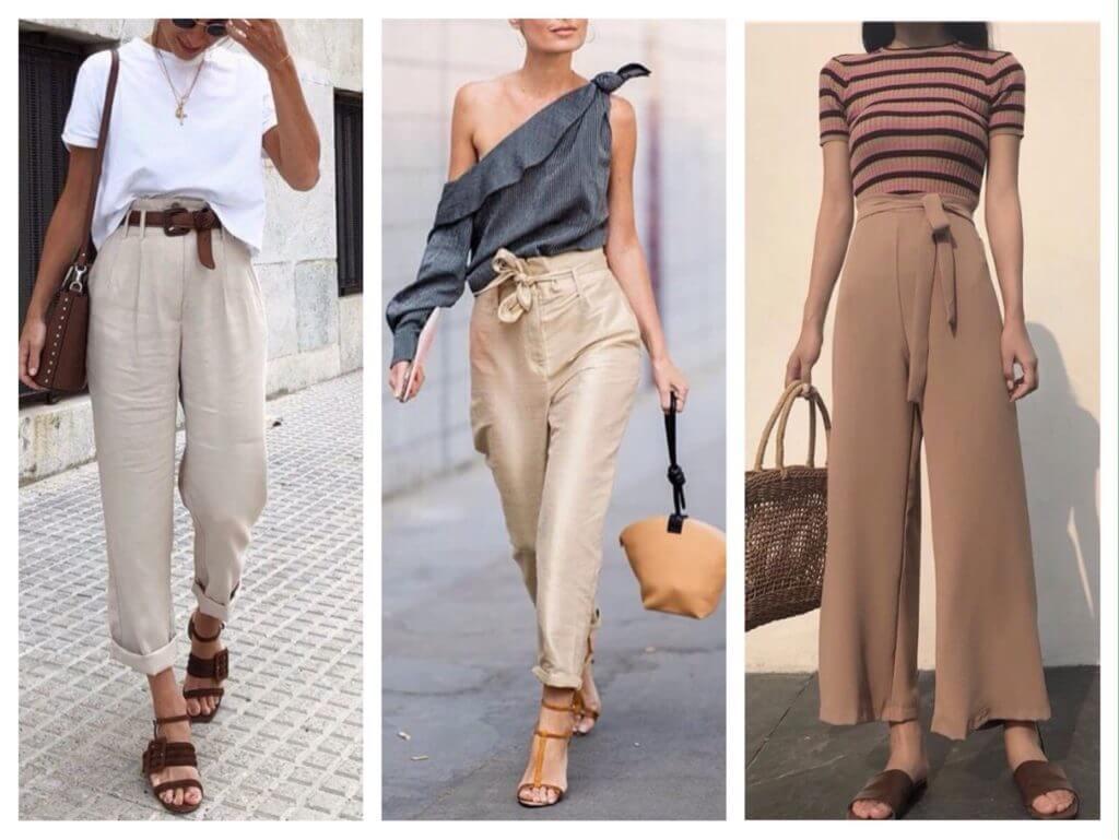 Бежеві штани для жінок – з чим поєднувати 20