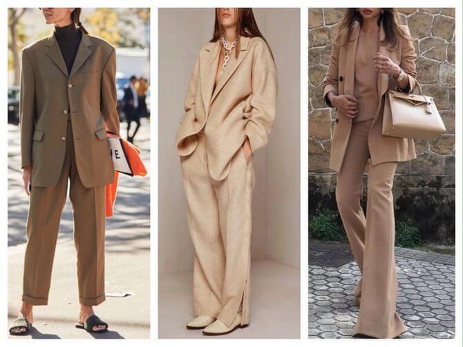 Бежеві штани для жінок – з чим поєднувати 21