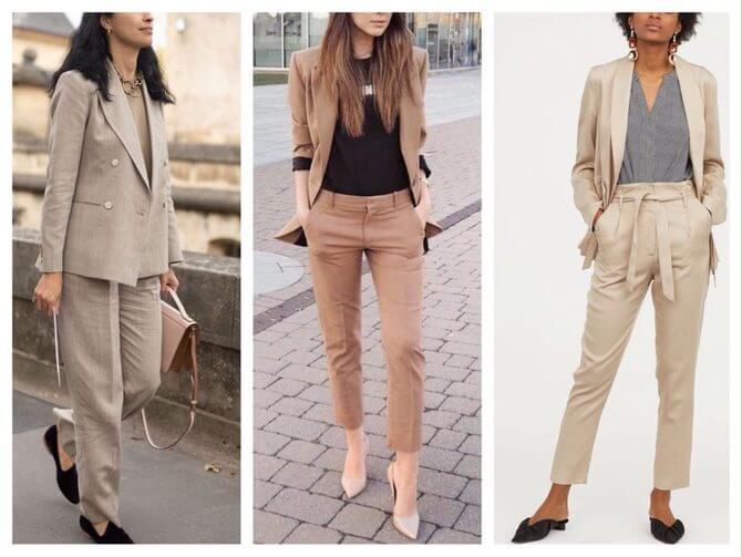 Бежеві штани для жінок – з чим поєднувати 22