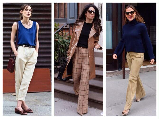 Бежеві штани для жінок – з чим поєднувати 24