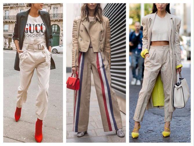 Бежеві штани для жінок – з чим поєднувати 26