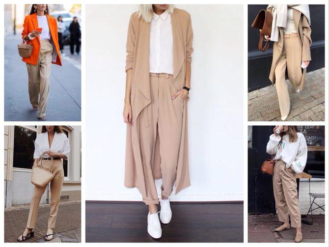 Бежеві штани для жінок – з чим поєднувати 28