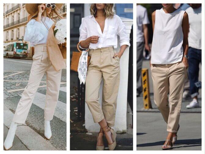 Бежеві штани для жінок – з чим поєднувати 6