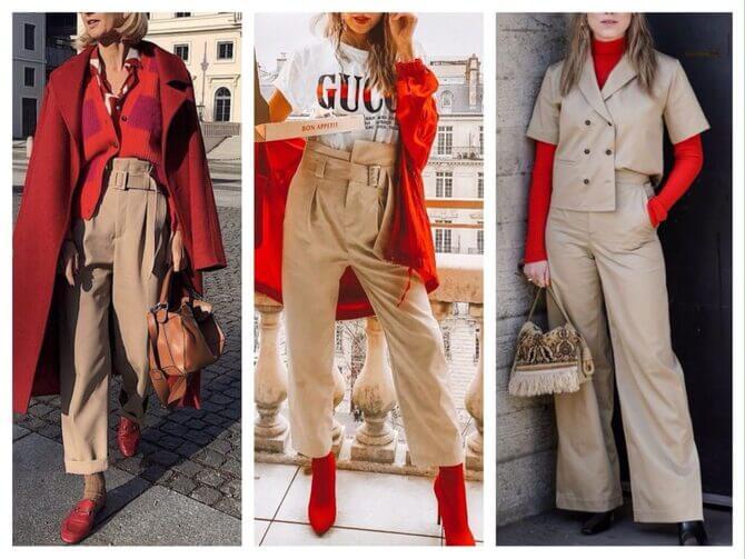 Бежеві штани для жінок – з чим поєднувати 7