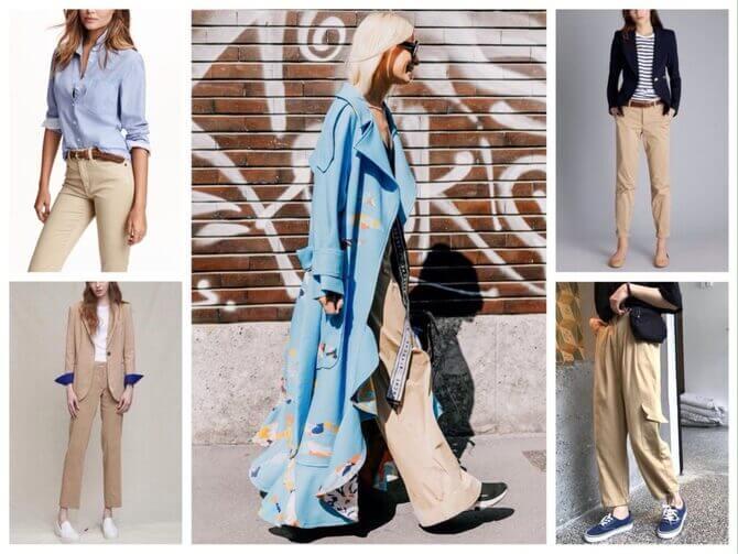 Бежеві штани для жінок – з чим поєднувати 9
