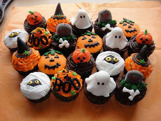Капкейки на Хэллоуин: варианты декора для ужасно популярного лакомства 1