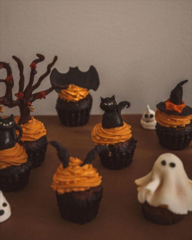 Капкейки на Хэллоуин: варианты декора для ужасно популярного лакомства 47