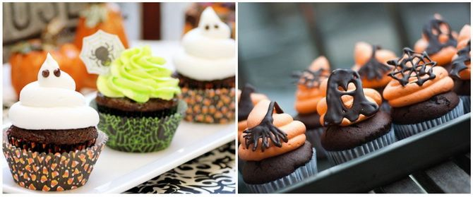 Капкейки на Хэллоуин: варианты декора для ужасно популярного лакомства 49