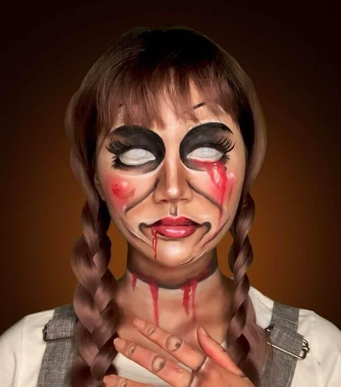 Напугать, удивить, очаровать: грим на Хэллоуин-2020 20