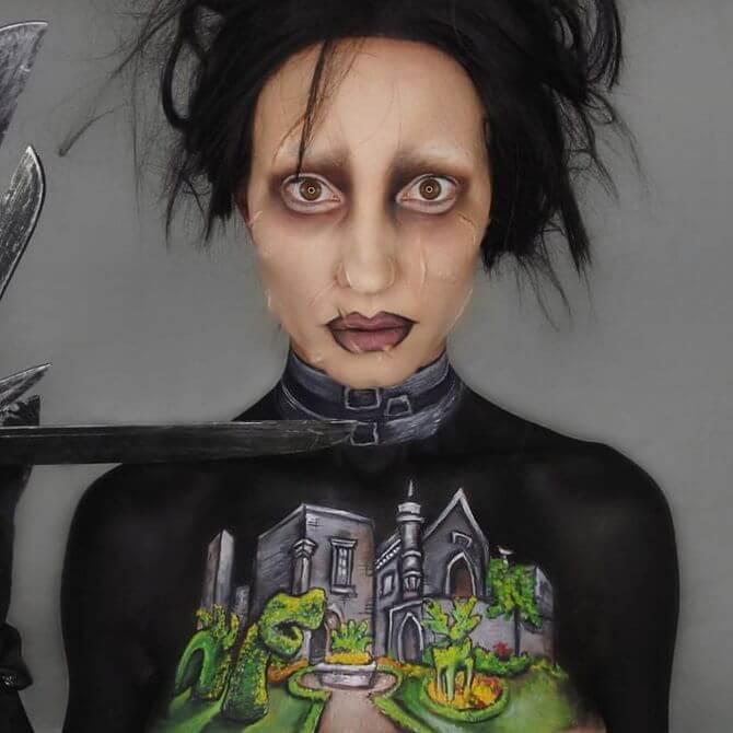 Напугать, удивить, очаровать: грим на Хэллоуин-2020 21