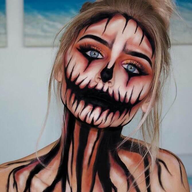 Напугать, удивить, очаровать: грим на Хэллоуин-2020 11