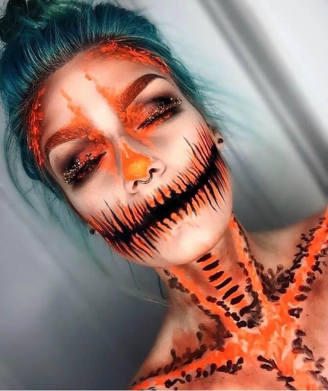 Напугать, удивить, очаровать: грим на Хэллоуин-2020 12