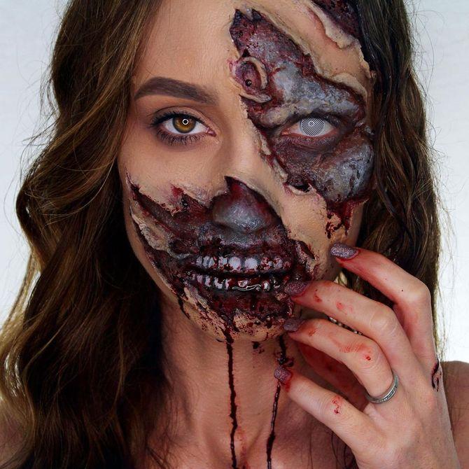 Напугать, удивить, очаровать: грим на Хэллоуин-2020 14