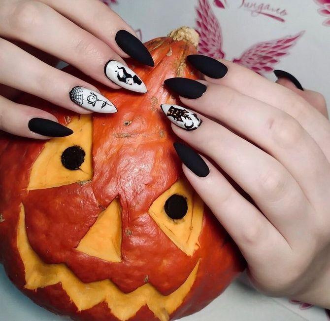 Яркий, смешной, красивый, ужасный: 50+ новых идей маникюра на Хэллоуин 2021 51