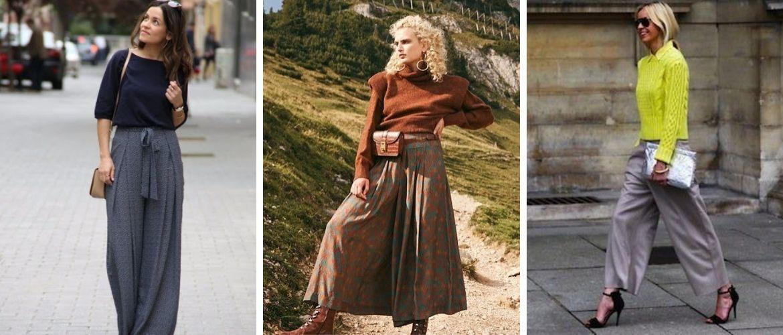 Юбка-брюки — как носить в сезоне осень-зима 2020-2021