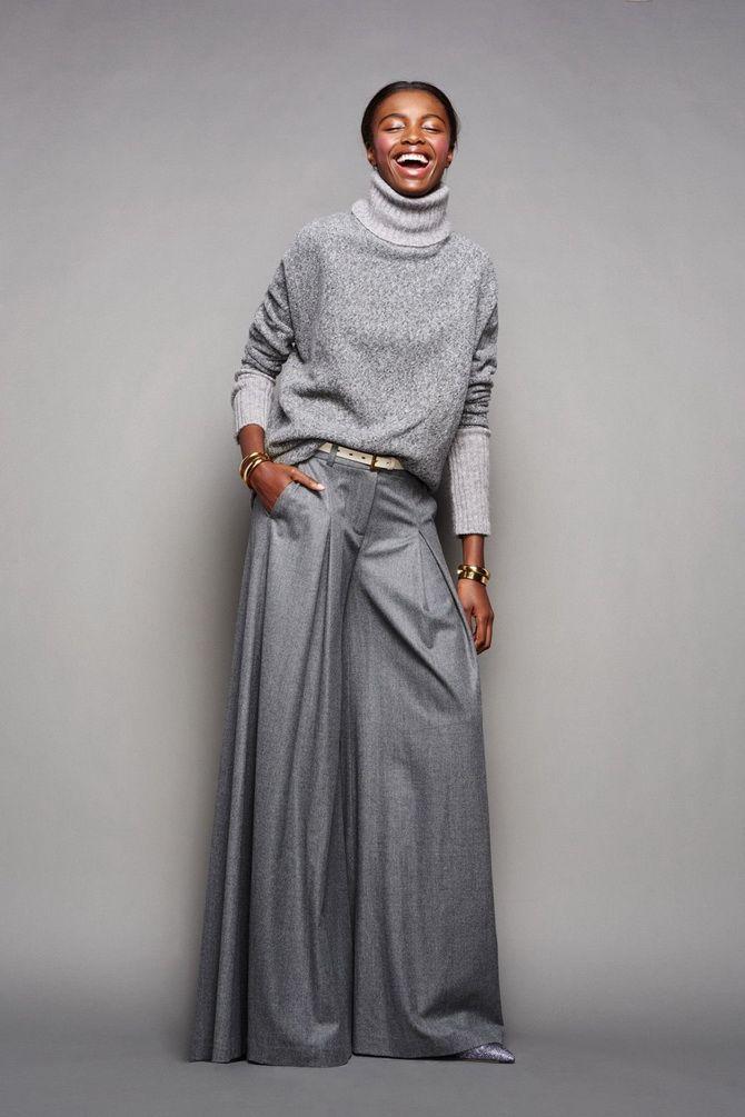 Юбка-брюки — как носить в сезоне осень-зима 2020-2021 14