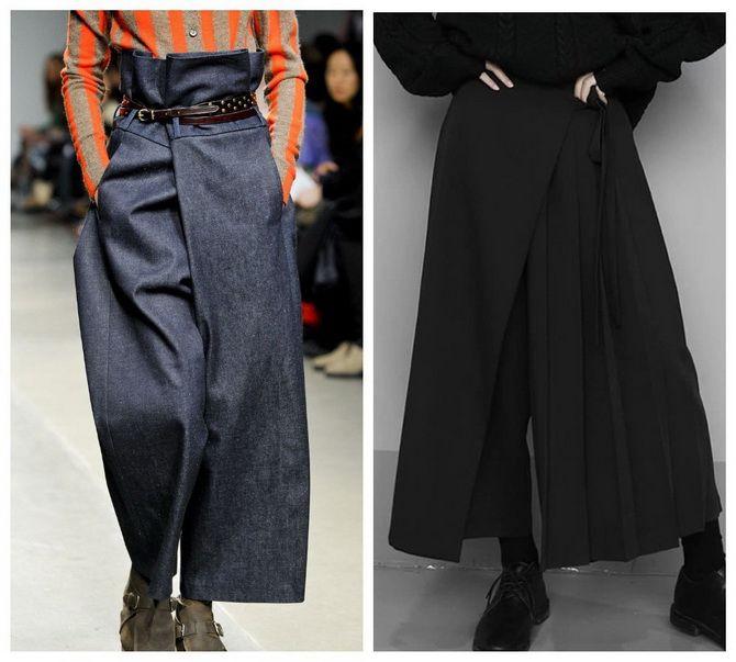 Юбка-брюки — как носить в сезоне осень-зима 2020-2021 16