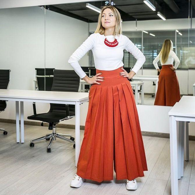 Юбка-брюки — как носить в сезоне осень-зима 2020-2021 20