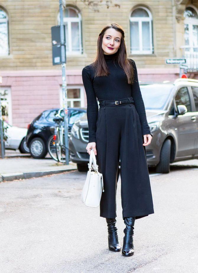 Юбка-брюки — как носить в сезоне осень-зима 2020-2021 9