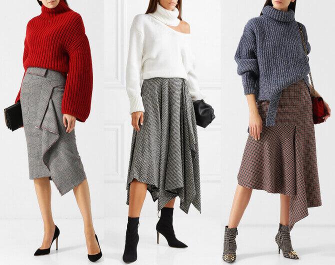 C чем носить шерстяную юбку в 2020 году 1