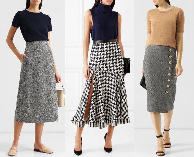C чем носить шерстяную юбку в 2020 году 11