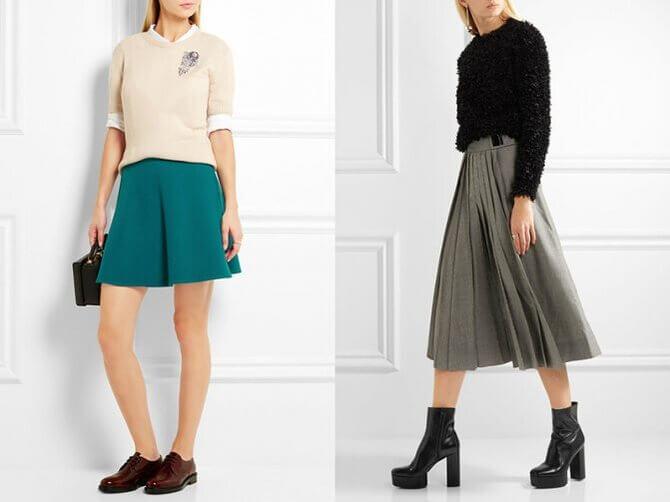 C чем носить шерстяную юбку в 2020 году 12