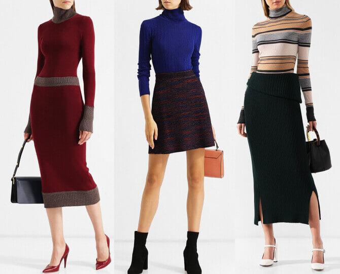 C чем носить шерстяную юбку в 2020 году 4