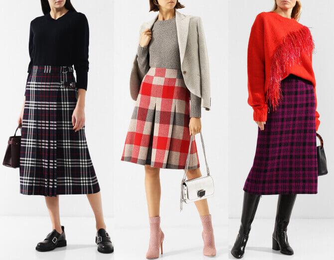 C чем носить шерстяную юбку в 2020 году 5