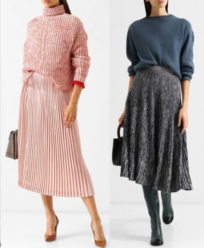 C чем носить шерстяную юбку в 2020 году 7