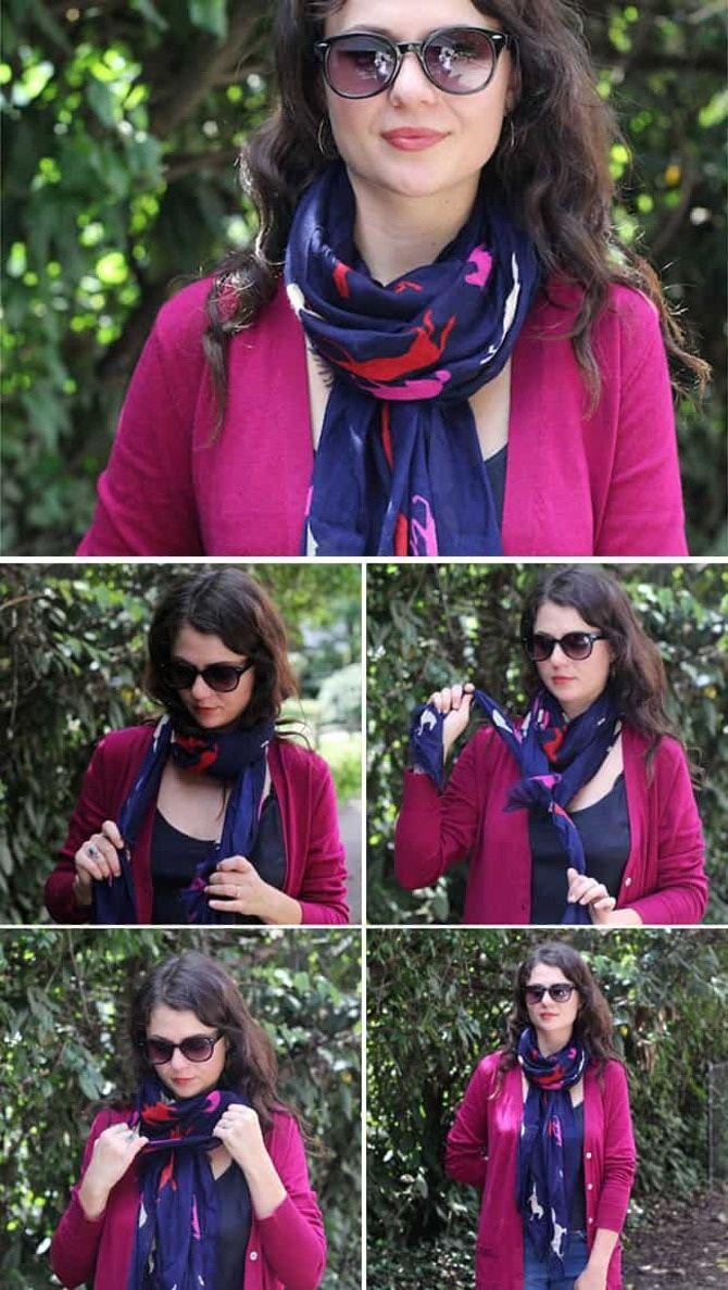 Как красиво завязать шарф: 19 лучших способов 11
