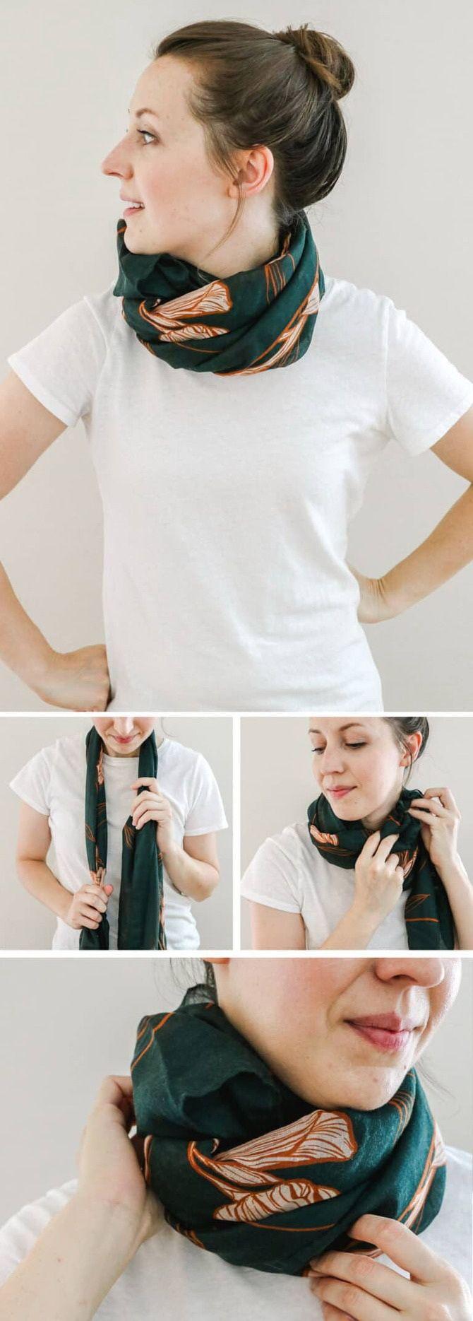 Как красиво завязать шарф: 19 лучших способов 12