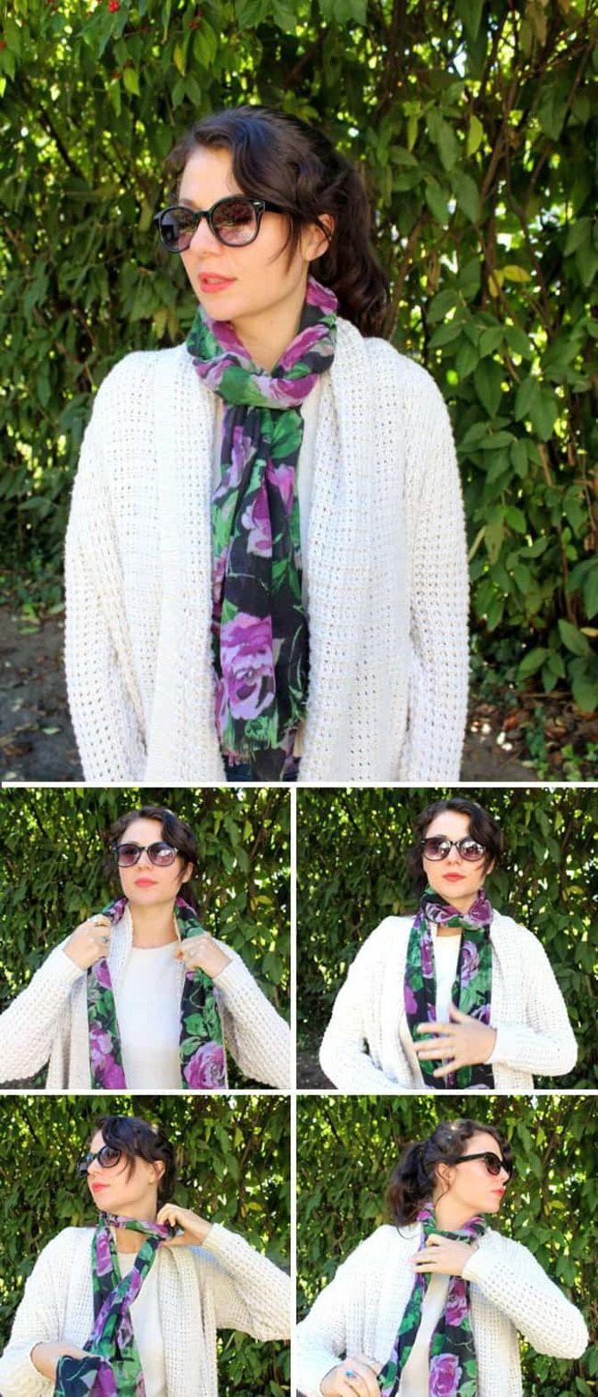 Как красиво завязать шарф: 19 лучших способов 18
