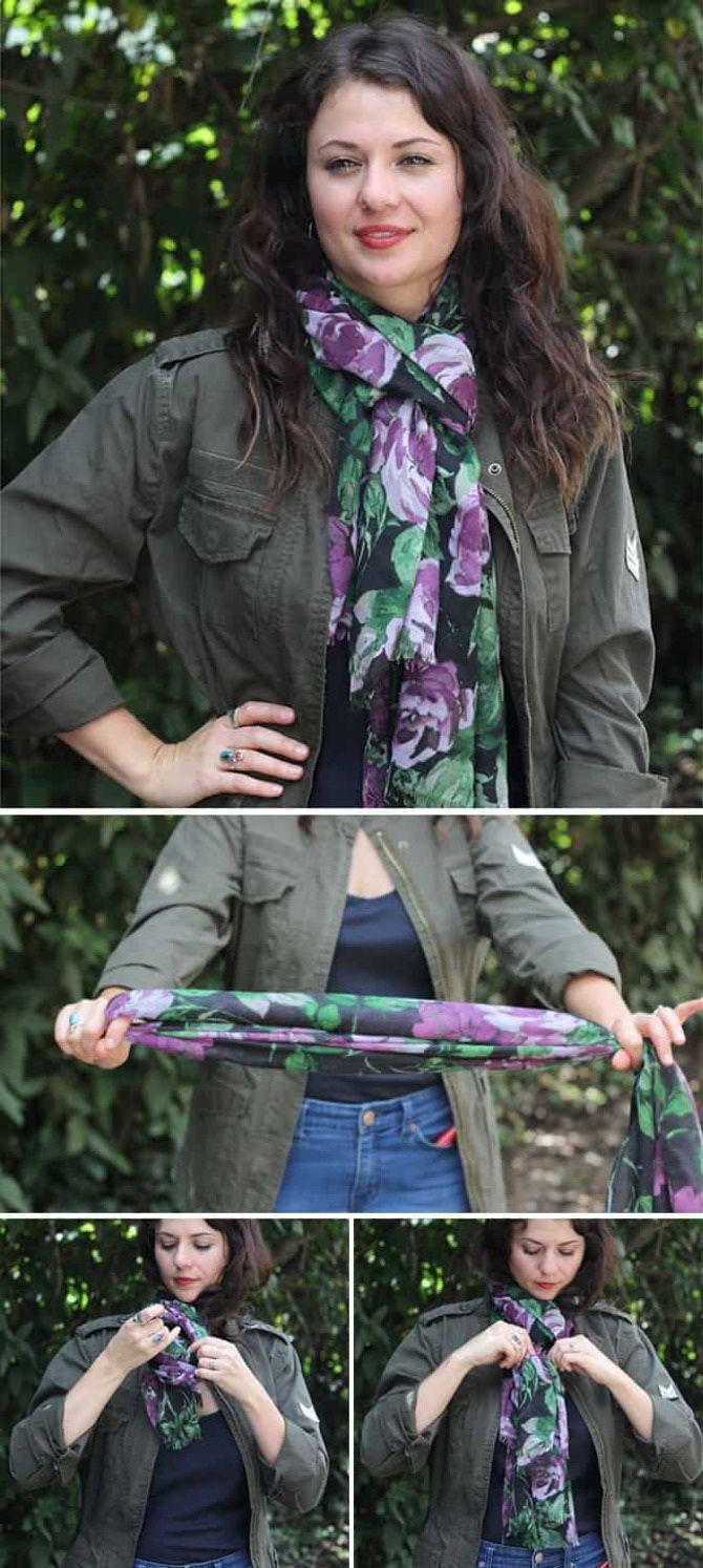 Как красиво завязать шарф: 19 лучших способов 3